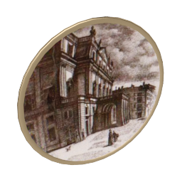 scala theatre plate by fornasetti