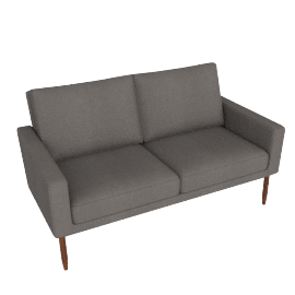 Raleigh Two Seater Sofa - Slubby Weave, Heather