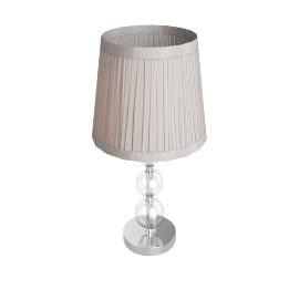 Lavinia Glass Ball Table Lamp, Clear