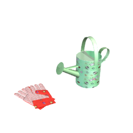 Watering Can and Gloves Set