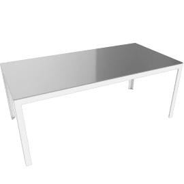 Min Table, Large, Glass, Frosted