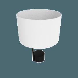 Pleat Drum Table Lamp, Black