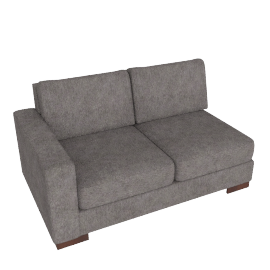 Signature 2 Seater With Left Arm, Grey Brown
