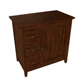 John Lewis Grove 3 Drawer Cabinet