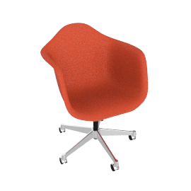 Eames Task Chair, Red Orange