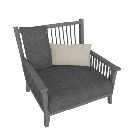 Gervasoni Gray 01 Armchair by Paola Navone