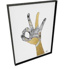 Sign Language II by KelliEllis - 30''x40'', Black