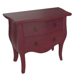 Bourbon Commode, Rectory Red