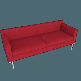 Theatre Sofa, Lama Tweed, Scarlet