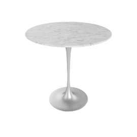 Saarinen Side Table - Coated Marble 2 - Plt.WhiteExtra