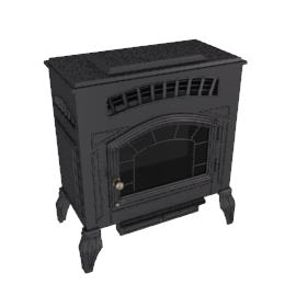 "Burley Flueless ""Coal"" Gas Stove Fire, Esteem 4221"