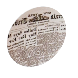 newspapers plates by fornasetti