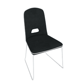 Arlo Dining Chair, Grey/White