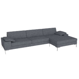 Arena Sectional with Chaise Left, Pebble Weave Pumice
