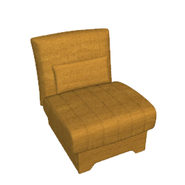 Bolero Chair Bed, Gold