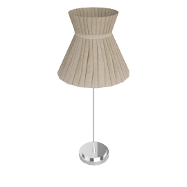 Audrey Hat Shade Table Lamp, Taupe