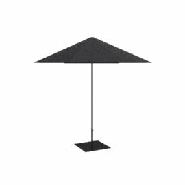 Aluminium Garden Parasol, Graphite / Black