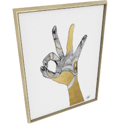 Sign Language II by KelliEllis - 36''x48'', Gold