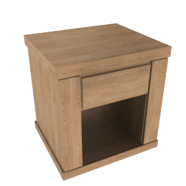 Keep 1 Drawer Bedside Tea Tray, Oak