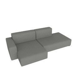 Mags Soft Low Sectional with Left Chaise, Linara - Fog