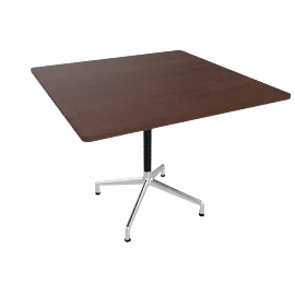 Eames Square Universal 36'', Walnut Top Aluminum Base