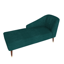 Margot LHF Chaise, Peacock Blue Velvet
