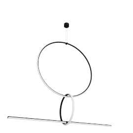 Arrangements Pendant, Large Circle, Small Circle and Line