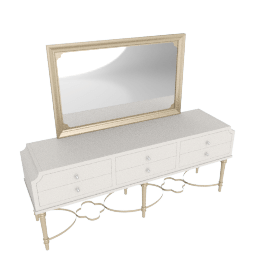 Anteros Rectangular Console Table with Mirror