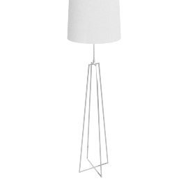 Lockhart Tripod Floor Lamp, Chrome