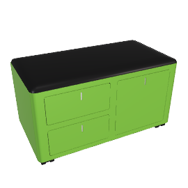 cBox File and Drawers - Green