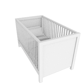 Olivia Cot with Drawer, White