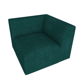 Juno modular - Corner End Seat, Seafoam Blue Velvet