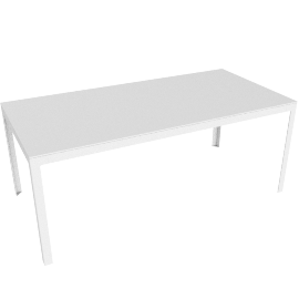 Min Table, Large, White Base with White Top
