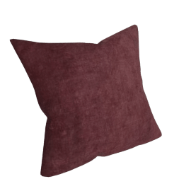 Plain Velvet Cushion, Fig