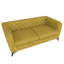 Sloan 2 Seater Sofa, Antique Gold Velvet