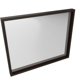 Renato Dresser Mirror-Hg Grey/Wlnt