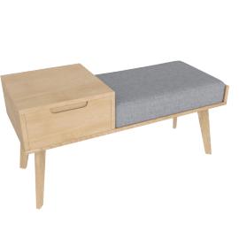 Jenson storage bench, oak