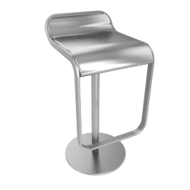 LEM Piston Stool - Stainless Steel