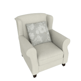 Botanical Encounter High Back Armchair