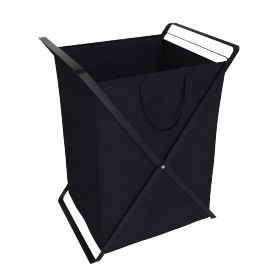 Large Tower Laundry Hamper, Black