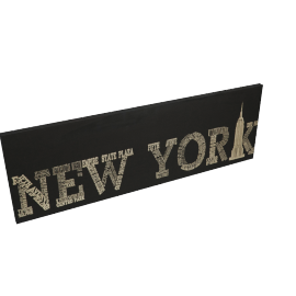New York Canvas Printing with Foil - 120x4.3x40 cms