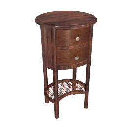 Hemingway Round 2 Drawer End Table