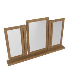 Springfield Vanity Mirror-L.Oak/A.Silver