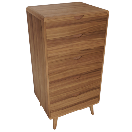 Laurel Chest Of 5 Drawers - Walnut