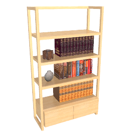 Lincoln Shelving Unit, 2 drawers