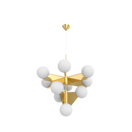 Plane 3-Tier Chandelier, Brass