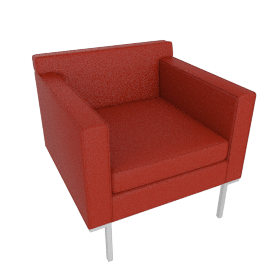 Theatre Armchair, Vienna Leather, Rouge