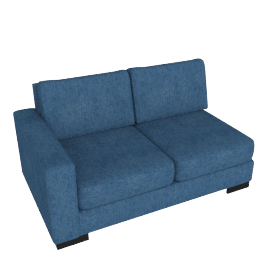 Signature 2 Seater With Left Arm, Blue