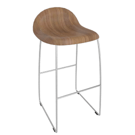 Gubi Counter Stool - Walnut