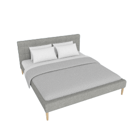 Affleck Upholstered King Bed - 180x200 cms